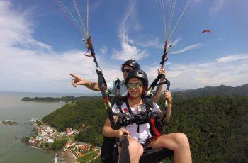 Onde voar de parapente em Santa Catarina? Opção de voo duplo em Itajaí no Parque da Atalaia