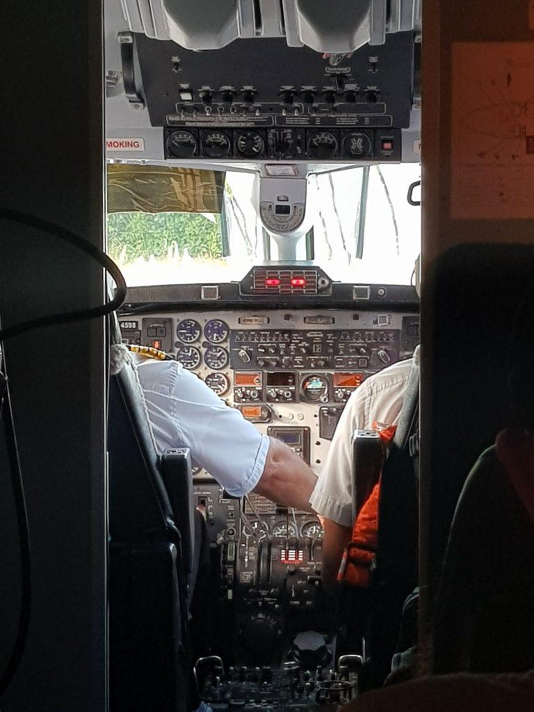 painel de avião pequeno