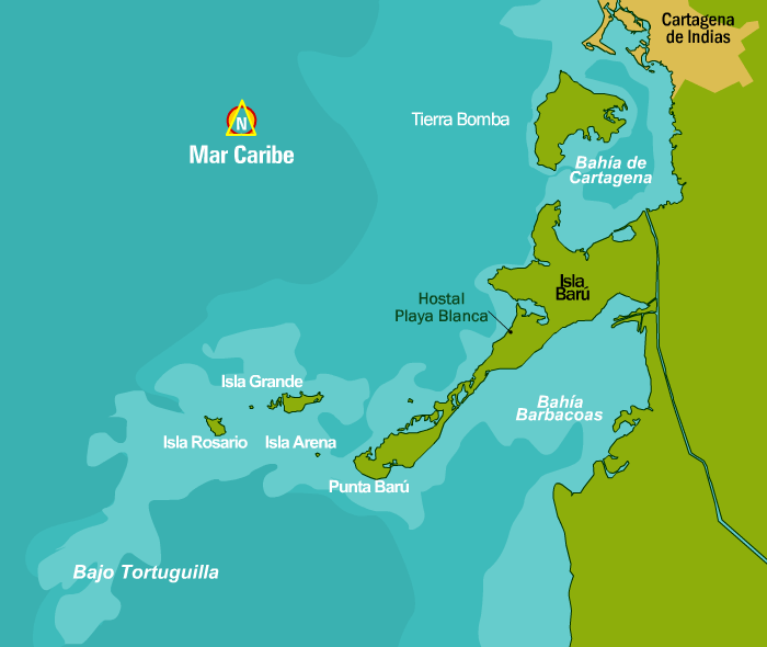 mapa islas do rosario